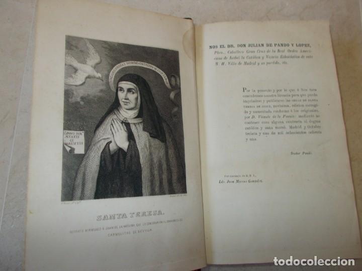 Libros antiguos: Año 1881. Santa Teresa de Jesús. El libro de su vida. Las Fundaciones y las relaciones escritas - Foto 2 - 149691478