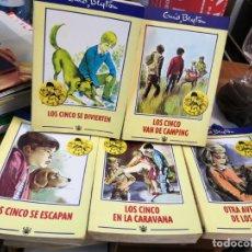 Libros antiguos: 5 LIBROS LOS CINCO ENID BLYTON. Lote 149746306