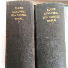 Libros antiguos: 2 TOMOS DE INGENIERIA MODERNA DE 1920. Lote 149759530