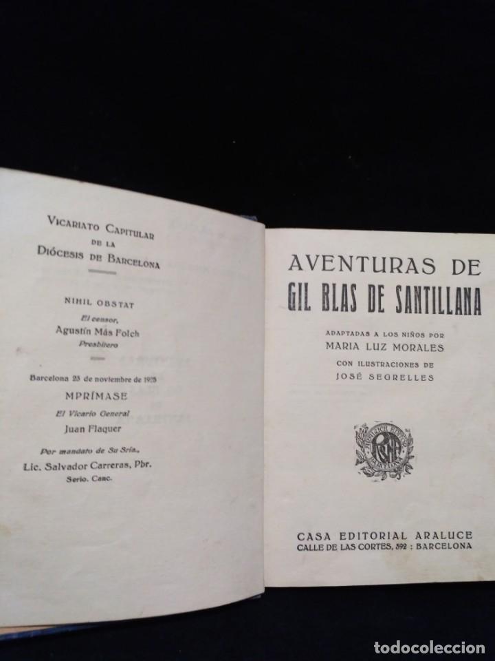 Libros antiguos: Aventuras de Gil Blas de Santillana de 1925 - Foto 4 - 149930002