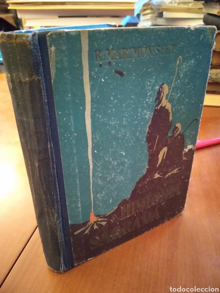 Libros antiguos: HISTORIA SAGRADA. RAFEL MARIMÓN. - Foto 2 - 149990906