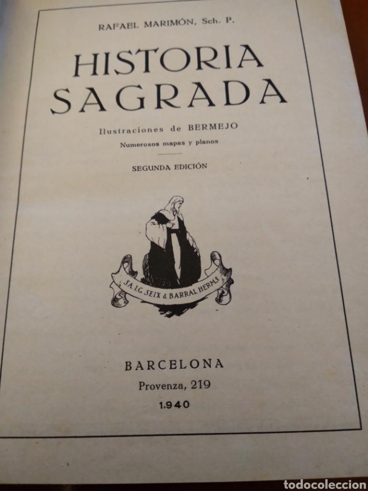 Libros antiguos: HISTORIA SAGRADA. RAFEL MARIMÓN. - Foto 4 - 149990906