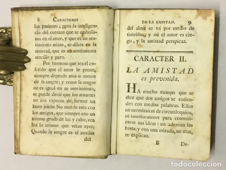 Libros antiguos: CARACTERES Ó SEÑALES DE LA AMISTAD. - CARACCIOLO, marqués de. 1780 - Foto 2 - 123171246