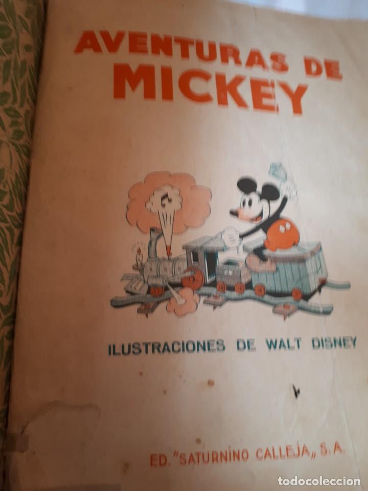 Libros antiguos: AVENTURAS E MICKEY, de Calleja - Foto 2 - 150080326