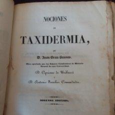 Libros antiguos: NOCIONES DE TAXIDERMIA 1849. Lote 150088273