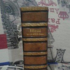 Libros antiguos: HISTORIA DE LAS BELLAS ARTES. STORIA DELLE BELLE ARTI IN ITALIA. RANALLI. FIRENZE 1845.. Lote 150138506