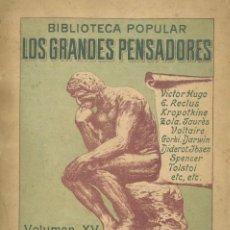 Libros antiguos: DEL CONTRATO SOCIAL (FRAGMENTOS). ROUSSEAU, JUAN JACOBO.. Lote 150163186