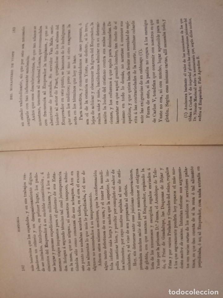 Libros antiguos: HISTORIA DEL MONASTERIO DE YUSTE- DOMINGO DE G. Mª ALBORAYA 1906. - Foto 5 - 150241298