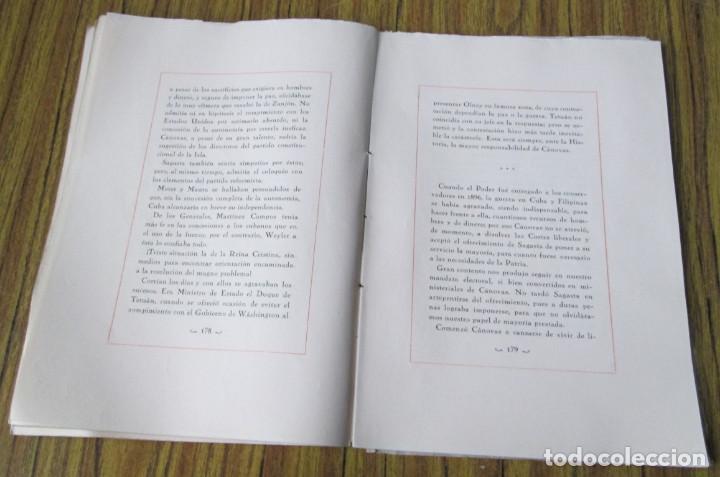 Libros antiguos: NOTAS DE UNA VIDA 1868 – 1901 Conde de Romanones Tomó primero - Foto 4 - 150316198