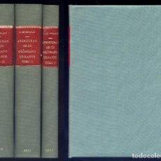 Libros antiguos: REPARAZ, GONZALO DE. AVENTURAS DE UN GEÓGRAFO ERRANTE. 3 TOMOS. 1920-1922.. Lote 150347554
