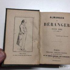 Libros antiguos: ALMANACH DE BERANGER. 1862-1865. . Lote 150534218