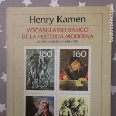 Libros antiguos: VOCABULARIO BASICODE LA HISTORIA MODERNA. Lote 150693170