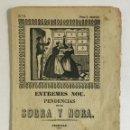 Libros antiguos: ENTREMES NOU. PENDENCIAS ENTRE SOGRA Y NORA. - [ROMANÇ, ROMANCE.]. Lote 150739198