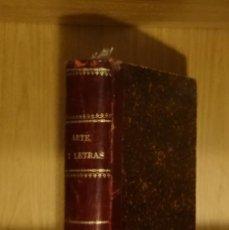 Libros antiguos: (PUBLICACIONES PERIÓDICAS) ARTE Y LETRAS - PELAYO VIZUETE. Lote 150931826