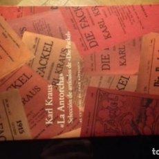 Livres anciens: LA ANTORCHA, DE KARL KRAUS. Lote 150955138