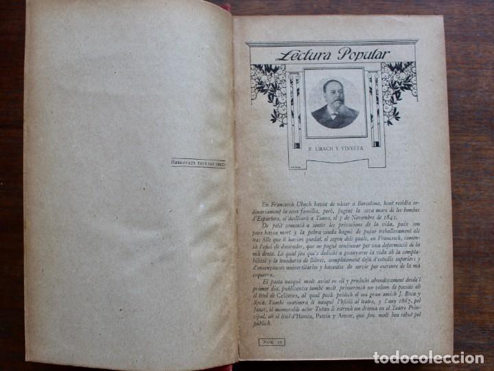 Libros antiguos: LECTURA POPULAR- BIBLIOTECA D'AUTORS CATALANS- 12 VOL- 1913 - Foto 8 - 150960538