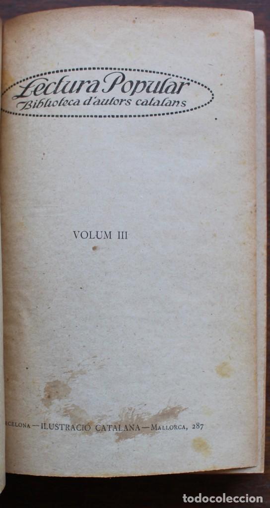 Libros antiguos: LECTURA POPULAR- BIBLIOTECA D'AUTORS CATALANS- 12 VOL- 1913 - Foto 13 - 150960538