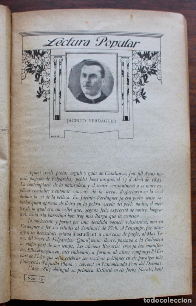 Libros antiguos: LECTURA POPULAR- BIBLIOTECA D'AUTORS CATALANS- 12 VOL- 1913 - Foto 14 - 150960538