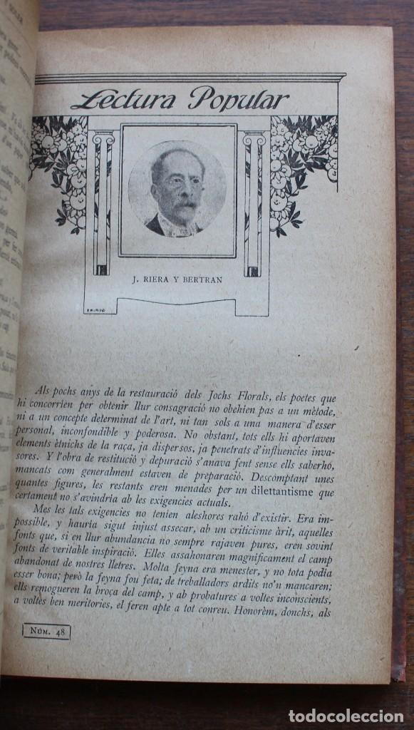 Libros antiguos: LECTURA POPULAR- BIBLIOTECA D'AUTORS CATALANS- 12 VOL- 1913 - Foto 15 - 150960538