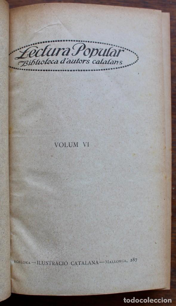 Libros antiguos: LECTURA POPULAR- BIBLIOTECA D'AUTORS CATALANS- 12 VOL- 1913 - Foto 29 - 150960538