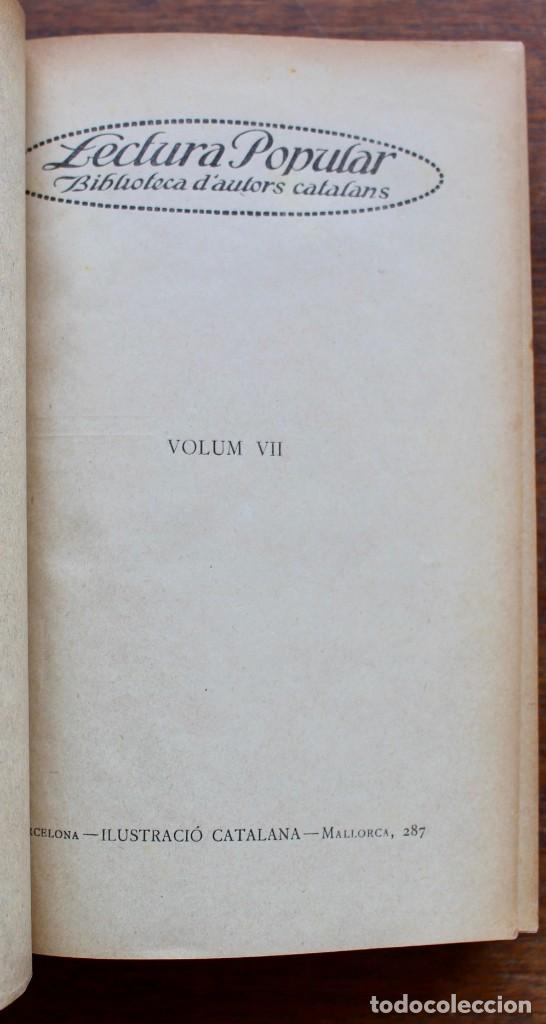 Libros antiguos: LECTURA POPULAR- BIBLIOTECA D'AUTORS CATALANS- 12 VOL- 1913 - Foto 33 - 150960538
