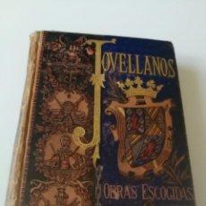 Libros antiguos: COLECCION DE OBRAS ESCOGIDAS JOVELLANOS AÑO1884, ILUSTRACIONES TOMÁS SALA(VER DESCRIPCIÓN). Lote 150983782