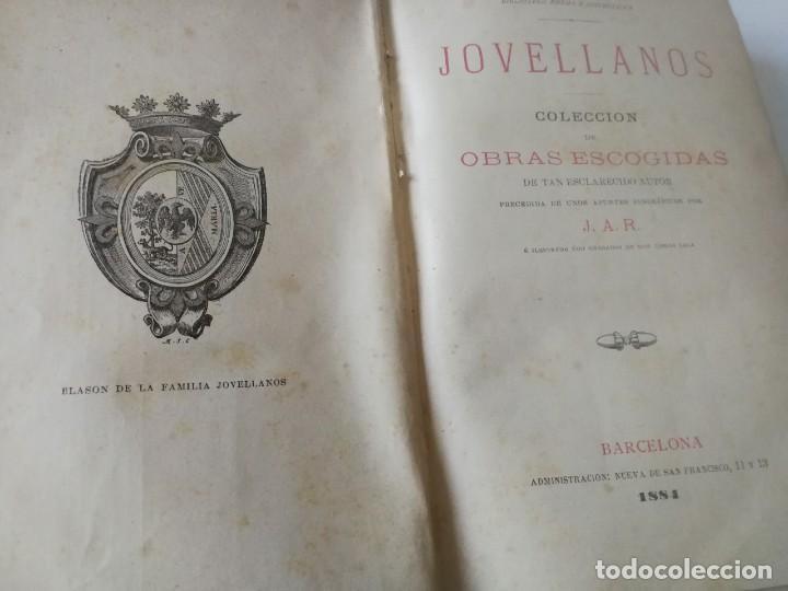 Libros antiguos: COLECCION DE OBRAS ESCOGIDAS JOVELLANOS AÑO1884, Ilustraciones Tomás Sala(ver descripción) - Foto 3 - 150983782