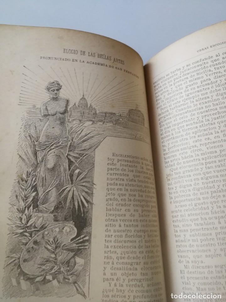Libros antiguos: COLECCION DE OBRAS ESCOGIDAS JOVELLANOS AÑO1884, Ilustraciones Tomás Sala(ver descripción) - Foto 5 - 150983782