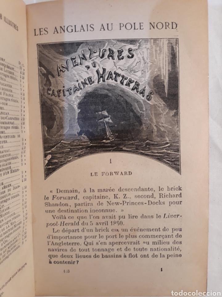 Libros antiguos: Jules verne,Les Anglais au Pple Nord.aventures du capitaine Hatteras. - Foto 5 - 151068570