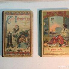 Libros antiguos: IMPRENTA SUCESORES DE HERNANDO: CUENTOS INFANTILES (1898) - EL PRIMER VUELO (1908) (2 LIBROS). Lote 151072422
