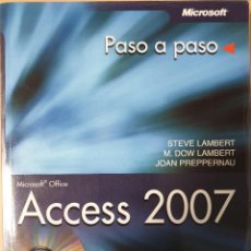 Libros antiguos: MICROSOFT ACCESS 2007. EDITORIAL ANAYA. Lote 151077462