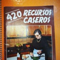 Libros antiguos: 420 RECURSOS CASEROS POR MAXIMO GUTIÉRREZ MURO MAR DE LA PLATA ARGENTINA 1978 28 PAGINAS. Lote 151125338