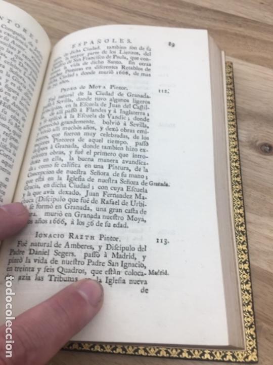 Libros antiguos: Palomino Castro.Las vidas de los pintores y estatuarios. Londres 1744. Enc Brugalla libro antiguo - Foto 6 - 40564725