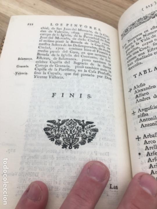 Libros antiguos: Palomino Castro.Las vidas de los pintores y estatuarios. Londres 1744. Enc Brugalla libro antiguo - Foto 9 - 40564725