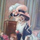 Libros antiguos: TUBAL 1880? ENORME PRECIOSA CROMOLITOGRAFIA ANTIGUA ROMANTICA VERSALLESCA . Lote 151171750
