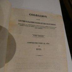 Libros antiguos: LEYES, REALES DECRETOS ORDENES AÑO 1842. IMPRIME EL CASTELLANO, MADRID. PÁGINAS EN BLANCO. Lote 151212558