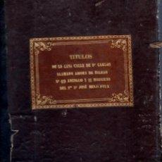 Libros antiguos: CADIZ. 1692. ESCRITURA DE CASA DE DON JOSE BENJUMEDA.. Lote 151212998