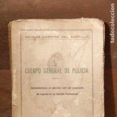 Libros antiguos: PROGRAMA INGRESO CUERPO GENERAL DE POLICIA. Lote 151254938