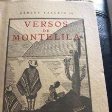 Libros antiguos: VERSOS DE MONTELILA DEDICADO POR EL AUTOR. Lote 151363966