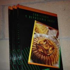 Libros antiguos: CONFITERÍA Y REPOSTERÍA VASCA (3 VOLÚMENES). Lote 151383118