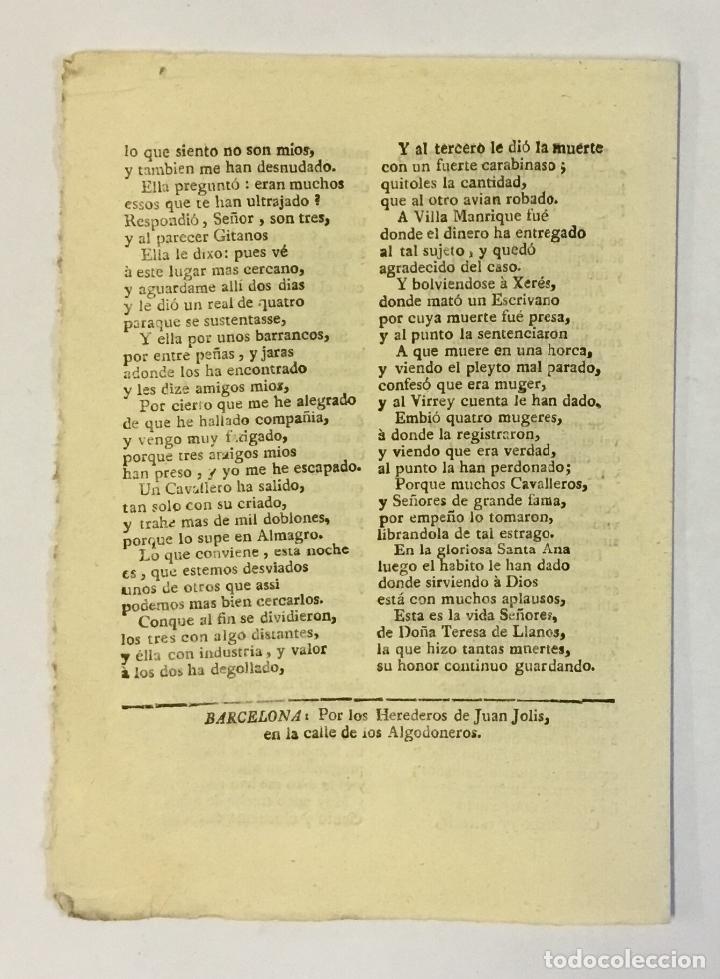 Libros antiguos: XACARA NUEVA, EN QUE SE REFIERE, Y DA CUENTA DE VEINTE MUERTES QUE UNA DONCELLA... - Foto 2 - 123152618