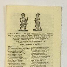 Libros antiguos: XACARA NUEVA, EN QUE SE REFIERE, Y DA CUENTA DE VEINTE MUERTES QUE UNA DONCELLA.... Lote 123152618