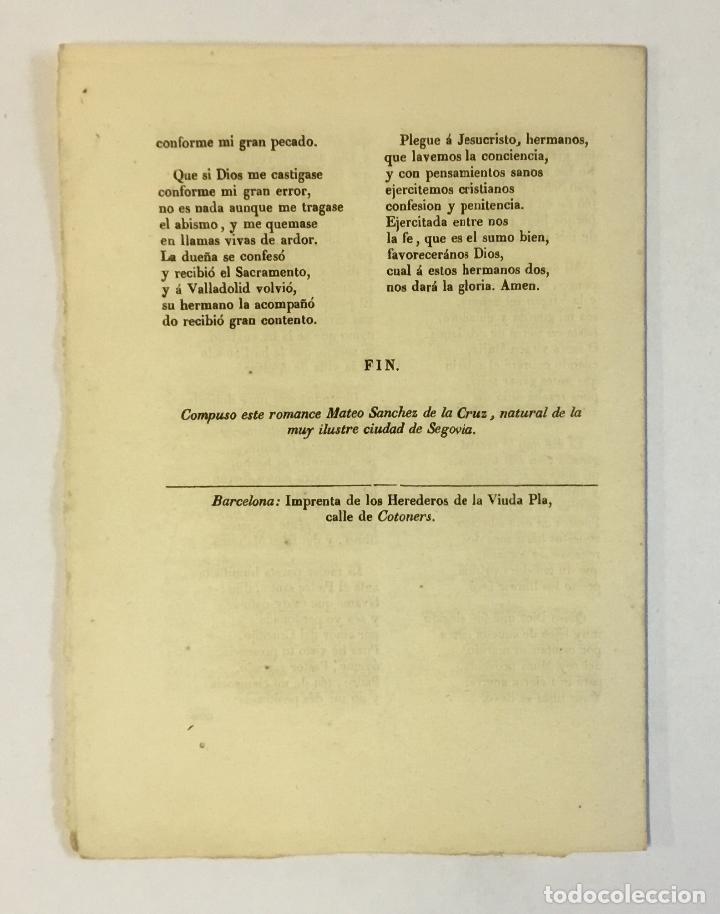 Libros antiguos: AQUI SE CONTIENE UN DULCE TRATADO, de como una mujer natural de Valladolid, siendo cautiva cuando... - Foto 2 - 123244428