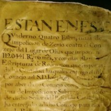 Libros antiguos: MANUSCRITO. Lote 151533120