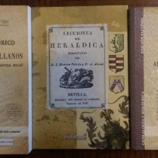Libros antiguos: 3 LIBROS FACSÍMILES RELATIVOS A LA GENEALOGÍA Y LA HERÁLDICA (1830-1871). APELLIDOS ESPAÑOLES. Lote 195221450