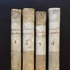 Libros antiguos: EN FRANCÉS 4 TOMOS LOMO PERGAMINO LOS PIONEROS O LAS FUENTES DEL SUSQUEHANNA J. FENIMORE COOPER 1825. Lote 151615894