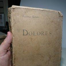 Libros antiguos: DOLORES, POESÍAS DE FEDERICO BALART, 1895 (INCOMPLETO). Lote 151658454