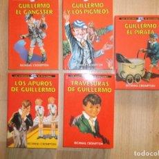 Libros antiguos: GUILLERMO, LOTE DE 5 LIBROS DE LAS AVENTURAS DE GUILLERMO, EXCELENTES. Lote 151714754