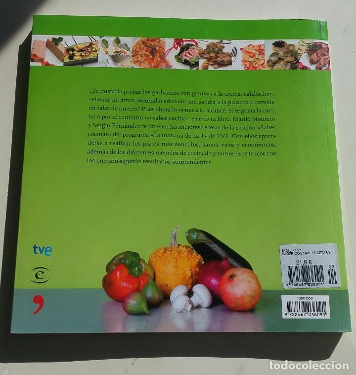 Libros antiguos: Saber cocinar. Recetas y trucos de la mañana de la 1 - Foto 2 - 151842262