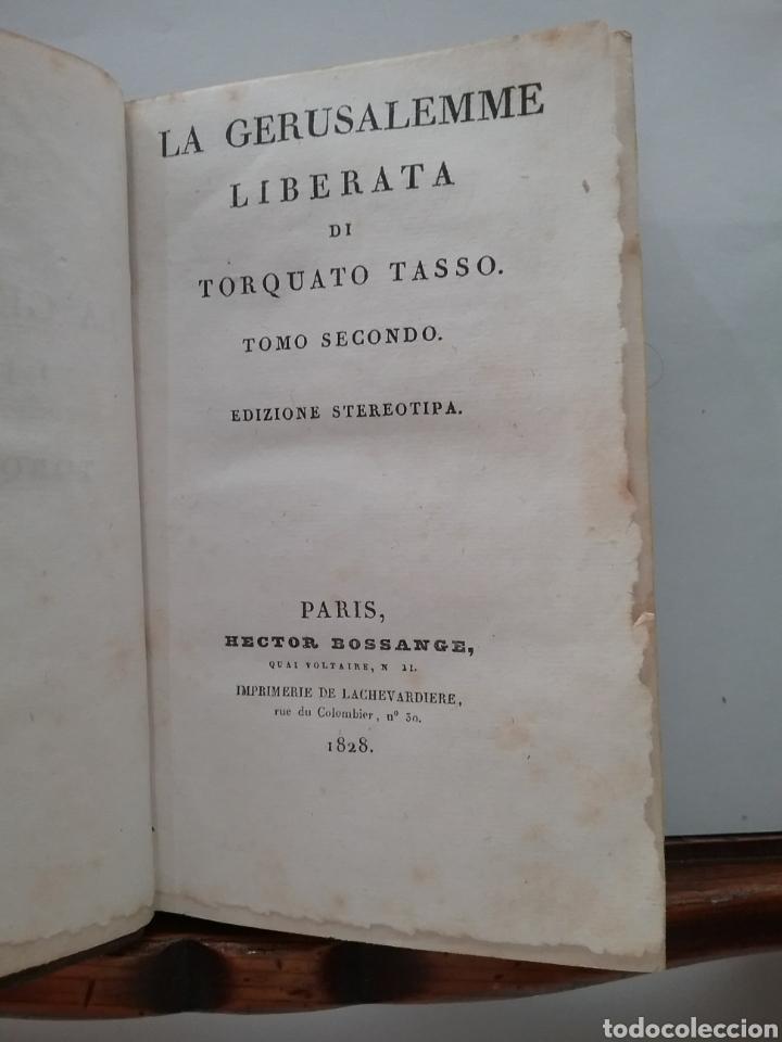 LIBRO LA GERUSALEMME LIBERATA DI TORCUATO TASSO TOMÓ I. EDICIONES STEREOTIPA 1828. (Libros Antiguos, Raros y Curiosos - Literatura - Otros)